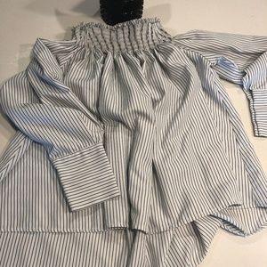 AQUA off-shoulder shirt/dress